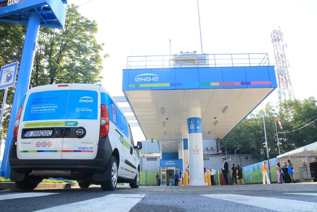 Engie a deschis prima staţie de alimentare cu gaz natural comprimat pentru autovehicule din Bucureşti
